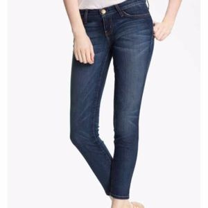 Current/Elliot Cropped Zipper Ankle Skinny Jeans